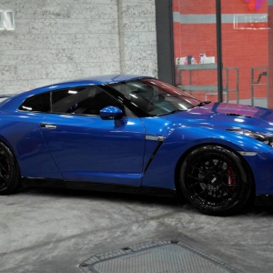 nissan gtr 35 daytona blue color matte metallic color arlon sott avery kpmf grafityp premiumshield paint protection 3dcarbon idymonas car wrapping window films