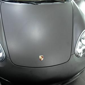 porsche hammann black atte metallic car wrap color digital print wrap idymonas car wrapping 3dcarbon window films arlon sott avery kpmf paint protect