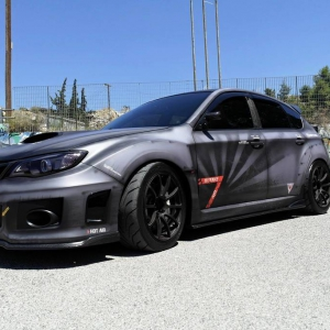 subaru impreza grb special design war car wrap matte metallic color arlon sott avery kpmf grafityp premiumshield 3dcarbon idymonas car wrapping window films