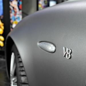 mazerati car wrap in grey matte digital print wrap idymonas car wrapping 3dcarbon window films arlon sott avery kpmf ppf