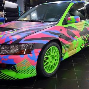 evo gymkhana grid project matte metallic color arlon sott avery kpmf grafityp premiumshield ppf 3dcarbon idymonas car wrapping window films (7)