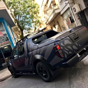 nissan navara special design 3dcarbon avery sott arlon kpmf grafityp premiumshield paint protection film window films carbon gloss matte metallic design print (10)