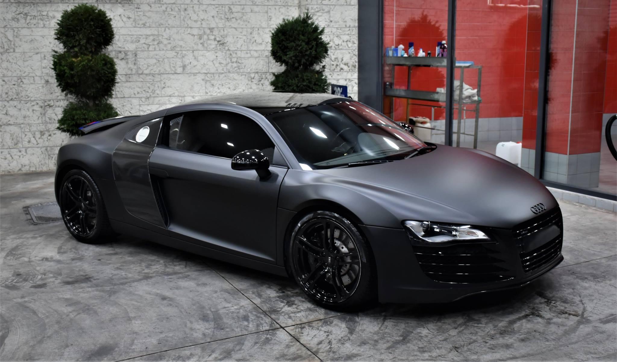 Audi R8 In Matte Perfect Black 3dcarbon