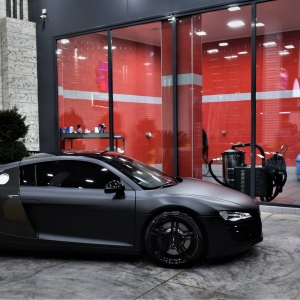 Audi r8 in Matte Perfect Black (13)