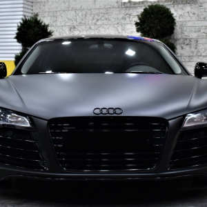 Audi r8 in Matte Perfect Black (15)